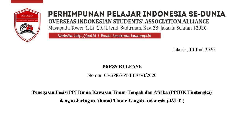 PRESS RELEASE – Penegasan Posisi PPIDK Timtengka dengan JATTI